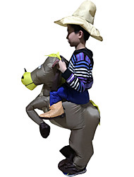 cheap -Riding A Donkey Cosplay Costume Halloween Props Inflatable Costume Waterproof  Costume Movie Cosplay Leotard/Onesie Air Blower Halloween