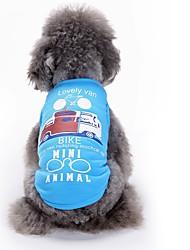 preiswerte -Katzen Hunde T-shirt Weste Hundekleidung Sommer Geometrisch Niedlich Modisch Lässig/Alltäglich
