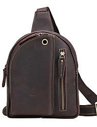 муж. Мешки Все сезоны Яловка Слинг сумки на ремне для Повседневные Темно-коричневый