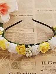 cheap -Foam Headbands Flowers Wreaths 1 Wedding Special Occasion Outdoor Headpiece