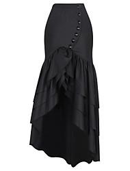 Shaperdiva Victorian Gothic Steampunk Women Costume Show Elastic Skirts