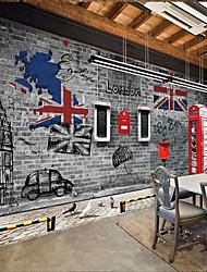 3D mattone Sfondo Per la casa Classico Rivestimento pareti , Tela Materiale adesivo richiesta Murale , Carta da parati