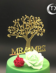 cheap -Cake Topper Classic Theme Monogram Acrylic Wedding with 1 OPP