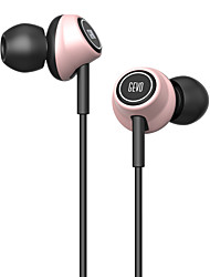 cheap -GV6 In Ear Wired Headphones Piezoelectricity Plastic Driving Earphone with Microphone Headset
