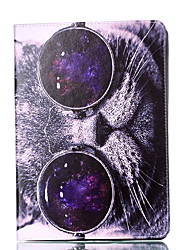 preiswerte -Für Apfel ipad Mini 4 3 2 1 Fall Abdeckung Katze Muster Karte Stent Pu Material flachen Schutz Shell