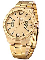 abordables -Hombre Reloj de Vestir Reloj de Moda Chino Cuarzo Gran venta Metal Aleación Banda Vintage Dorado
