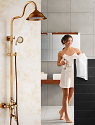 Antique Centerset Waterfall Pullout Spray Rotatable with  Ceramic Valve Single Handle Two Holes for  Antique Copper , Shower Faucet