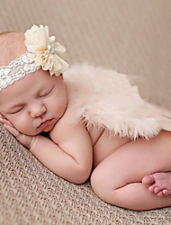 Newborn Baby's Modelling of the Angel Snowflake Photographic Cloths Headwears