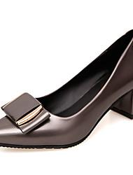 economico -Da donna Tacchi Club Shoes PU (Poliuretano) Primavera Estate Formale Club Shoes Fiocco Quadrato Nero Grigio Rosso 5 - 7 cm