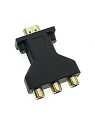 Cwxuan 1080P HDMI to CVBS RCA AV Video Converter Adapter