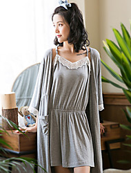 Women's 2pcs Sleepwear Suit Sweet Style Three Quarters Sleepwear