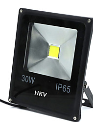 cheap -HKV 30W LED Floodlight Easy Install Waterproof Wall Outdoor Lighting Garage/Carport Storage Room/Utility Room Warm White Cold White