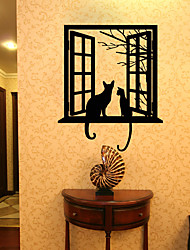 cheap -Animals Leisure Holiday Wall Stickers 3D Wall Stickers Decorative Wall Stickers 3D, Paper Home Decoration Wall Decal Wall Window