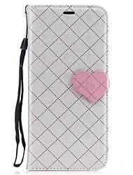Недорогие -Кейс для Назначение SSamsung Galaxy S8 Plus S8 Покрытие Рельефный С узором Чехол Полосы / волосы С сердцем Твердый Искусственная кожа для