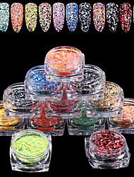 abordables -12 pcs Nail Art Design Mode Multi-teintes / Petit / Coloré Quotidien