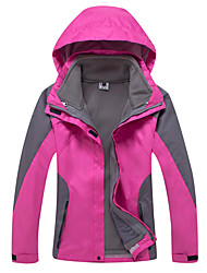 cheap -Women's Hiking 3-in-1 Jackets Outdoor Winter Waterproof Thermal / Warm Windproof Fleece Lining Rain-Proof Wearable Breathable Detachable