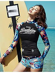cheap -Women's Sporty Tankini - Floral Print Boy Leg / Sporty Look