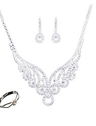 cheap -Women's Jewelry Set Fashion Euramerican Wedding Party Daily Casual Chrome Others Rings 1 Necklace 1 Pair of Earrings 1 Bracelet