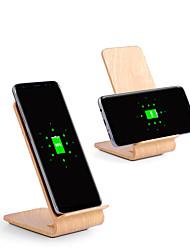 Недорогие -10w быстрый беспроводной заряжатель деревянный кронштейн для iphone xs iphone xr xs max iphone 8 samsung s9 plus примечание 8 s8 или встроенный qi приемник смартфон