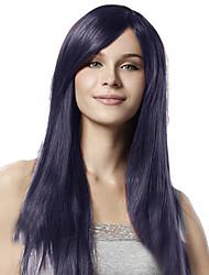 Donna Parrucche sintetiche Lace frontale Lisci Viola parrucca del merletto Parrucca di Halloween Parrucca di carnevale costumi parrucche