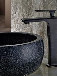 Недорогие -Смеситель для раковины в ванной комнате - ливневый душ, масло-бронза, центральная часть, одна ручка
