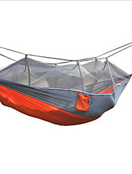 cheap -2 persons Camping Hammock with Mosquito Net Moistureproof/Moisture Permeability Well-ventilated Waterproof Portable Ultra Light (UL)