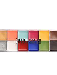 Correcteur Gloss coloré Mélange Sec Normal Huileux Yeux Visage Caisse Crème Mat Noir