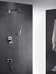 cheap -Shower Faucet - Contemporary Art Deco/Retro Modern Stainless Steel Wall Mounted Brass Valve