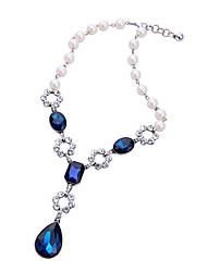 billige -Dame Krystal Halskædevedhæng - Personaliseret, Mode, Euro-Amerikansk Mørkeblå Halskæder Smykker Til Bryllup, Fest, Tillykke