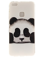 cheap -For Huawei P8 Lite (2017) P10 Case Cover Panda Pattern HD Painted TPU Material IMD Process Phone Case P10 Lite Honor 6X Y5 II Y6 II