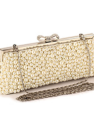 Women Bags Spring Summer Fall Winter All Seasons Polyester Evening Bag Imitation Pearl Crystal/ Rhinestone for Wedding Event/Party Casual