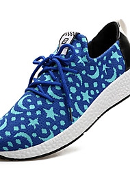 Men's Sneakers Summer Fall Comfort Light Soles Fabric Outdoor Athletic Casual Low Heel Lace-up Blue Black Fitness & Cross Training
