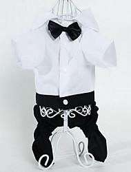 cheap -Cat / Dog Pants Dog Clothes Stripe Black Cotton Costume For Pets Summer Men's / Women's Fashion