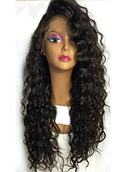 cheap -Women Human Hair Lace Wig Brazilian Human Hair Lace Front Glueless Lace Front 130% Density With Baby Hair Curly Wig Black Short Medium