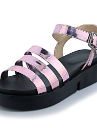 Women's Shoes Sandals Spring Summer Fall Comfort Leatherette Office & Career Dress Casual Creepers Hook & Loop Blushing Pink Sliver Black White