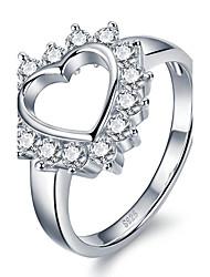 Недорогие -Жен. Массивные кольца Кольцо Кристалл Мода По заказу покупателя Euramerican Pоскошные ювелирные изделия бижутерия Стерлинговое серебро