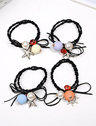 cheap -Korean Version of the First Rope Rope Hair Rope Bow Knot Hair Flower Buckets Mixed Hair 10pcs