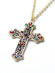 cheap -Women's Cross Pendant Necklace  -  Personalized Luxury Rainbow Necklace For Wedding Congratulations