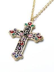 Недорогие -Жен. Крест На заказ Роскошь Ожерелья с подвесками Ожерелья с подвесками , Свадьба