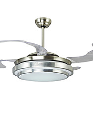 cheap -42 Inch Invisible Ceiling Fan Modern/Contemporary Nickel Feature for LED Metal Bedroom Dining Room Study Room/Office