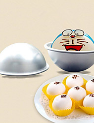4Pcs/Set  Aluminum Alloy Ball 3D Sphere Bomb Mold With Two Kinds Of Size Cake Pan Tin Baking Pastry Mould