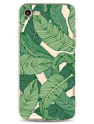 Per la mela iphone 7 7 più 6s 6 copertina caso più verde foglie modello dipinto ad alta penetrazione tpu materiale morbido caso caso del
