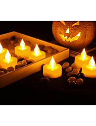 Set of 12 Premium Flameless Tealights with Timer Battery-operated Candles Long Battery Life  Battery Included.