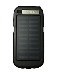 cheap -3LED SOS 8000mAh FlashLight 5V2A Power Bank with Solar Charge for Mobile Phone