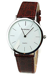 cheap -Men's Wrist Watch Cool Genuine Leather Band Casual / Fashion Black / Brown