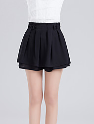 cheap -Women's Daily Above Knee Skirts,Cute Sexy A Line Polyester Solid Summer