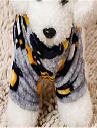 economico -Cane Tuta Abbigliamento per cani Traspirante Romantico Geometrico Grigio Blu Rosa Costume Per animali domestici