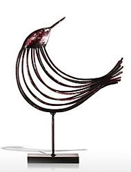 cheap -Iron Wire Bird Figurine Metal Figurine Bird Handicrafts Post Modern Art Craft Gift For Home Office