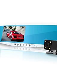 Недорогие -1080p hd car dvr 140 градусов широкий угол 4,3-дюймовый тире кулачок с g-датчиком / контроль парковки / запись петли 5 инфракрасный светодиодный автомагнитола / авто вкл / выкл / аварийный замок