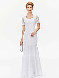 cheap -Sheath / Column Queen Anne Floor Length All Over Lace Mother of the Bride Dress with Lace by LAN TING BRIDE®